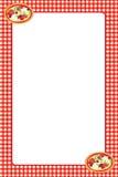 Quadro vermelho da pizza do guingão Fotografia de Stock Royalty Free