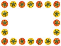 Quadro vermelho e amarelo dos tomates Fotografia de Stock
