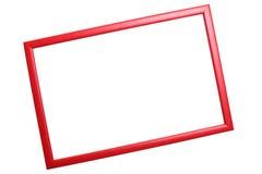 Quadro vermelho no fundo branco Imagem de Stock