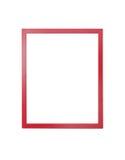 Quadro vermelho para pintar ou imagem no fundo branco Foto de Stock Royalty Free