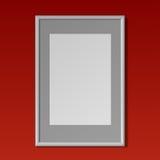 Quadro vertical branco realístico para pinturas Fotos de Stock Royalty Free