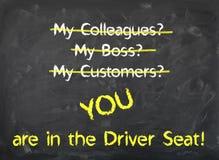 Quadro - você está no motorista Seat fotografia de stock royalty free