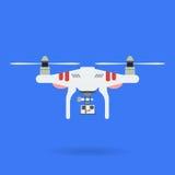 Quadrocopter和照相机 图库摄影