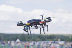 黑quadrocopter 免版税库存图片