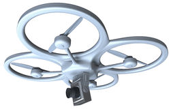 Quadrocopter avec l'appareil-photo Photo stock