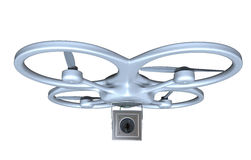 Quadrocopter with camera Stock Photography