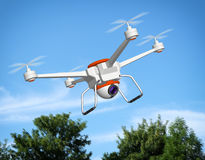 Quadrocopter with the camera Royalty Free Stock Photo