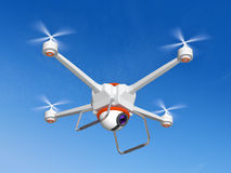 Quadrocopter with the camera Stock Photography