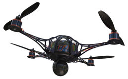 Quadrocopter with camera Royalty Free Stock Photos