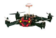 Quadrocopter di Dron isolato su fondo bianco Immagine Stock Libera da Diritti