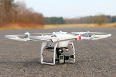 Quadrocopter Dji Phantom 2. Stock Photo