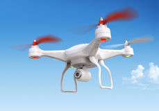 Quadrocopter drone with the camera Royalty Free Stock Photography