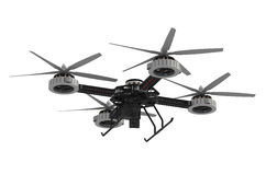 Quadrocopter drone with camera Royalty Free Stock Photo