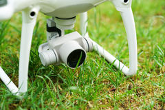 Quadrocopter on grass Royalty Free Stock Photo