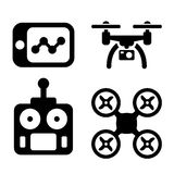Quadrocopter Icons Royalty Free Stock Image