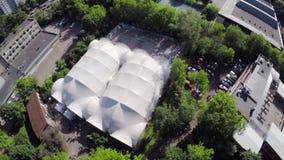 Quadrocopter krótkopędu łyżwy park biel dach Lato zbiory