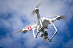 Quadrocopter in the sky Stock Image