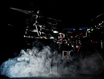 Quadrocopter at studio Stock Images