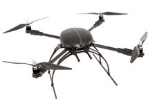 Quadrocopter at studio Royalty Free Stock Photography