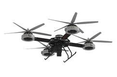 Quadrocopter surr med kameran royaltyfri illustrationer