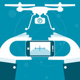 Quadrocopter teledirigido de smartphone libre illustration