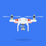 Quadrocopter und Kamera Stockfotografie