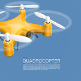 Quadrocopter unmanned camera Stock Photography