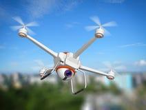 Quadrocopter z kamerą Zdjęcie Stock