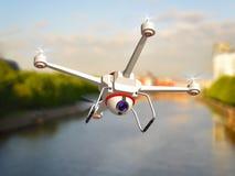 Quadrocopter z kamerą Obrazy Stock
