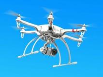 Quadrocopterhommel met camera Stock Afbeeldingen