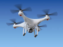 Quadrocopterhommel met de camera Stock Foto