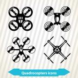 Quadrocopters-Ikonen Stockfoto