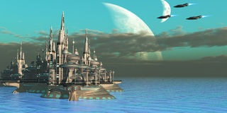 Quadron Sector Planet Royalty Free Stock Images