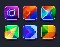 Quadros abstratos dos ícones do app Fotografia de Stock