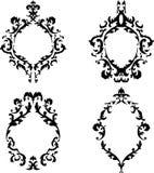 Quadros barrocos ornamentado ajustados Fotos de Stock