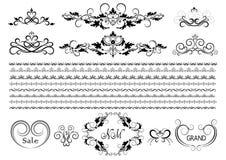 Quadros, beiras e detalhes originais para o projeto ilustração do vetor