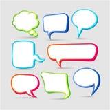 Quadros coloridos da bolha do discurso ilustração stock