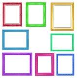Quadros coloridos da coleção no fundo branco Foto de Stock Royalty Free