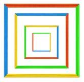 Quadros coloridos isolados no branco Imagem de Stock Royalty Free