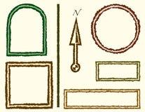 Quadros com bordas ásperas ilustração do vetor