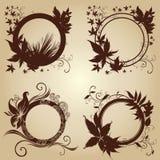 Quadros com folhas do outono. Acção de graças Imagens de Stock Royalty Free