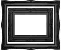 Quadros contemporâneos pretos Fotos de Stock