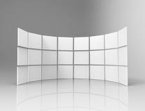 quadros 3d brancos no estúdio Imagens de Stock Royalty Free