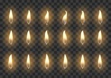 Quadros da animação da vela ilustração do vetor