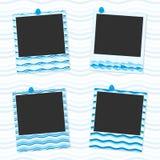 Quadros da foto do mar ilustração royalty free