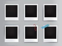 quadros da foto do vintage da ilustração com sombra ilustração stock