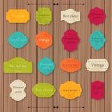 Quadros da placa da coleção da textura do vintage e grupo de etiqueta de papel na Foto de Stock