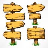 Quadros de avisos de madeira Fotos de Stock