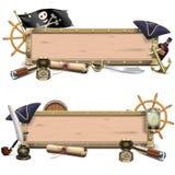 Quadros de avisos do pirata do vetor ilustração royalty free