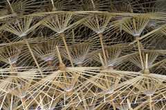 Quadros de bambu do guarda-chuva de papel Fotos de Stock Royalty Free